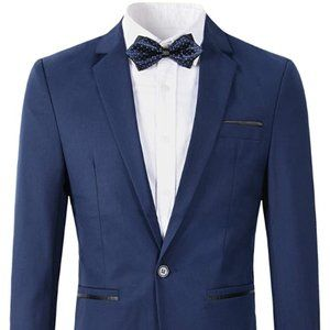 Other - Men's Slim Fit Blazer Jacket Casual One Button